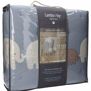 Lambs & Ivy Elephant 4 piece Bedding Set